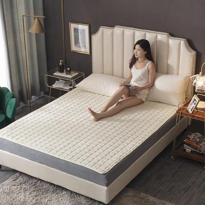 2020新款-磨毛四季床垫(2) 150*200 米白