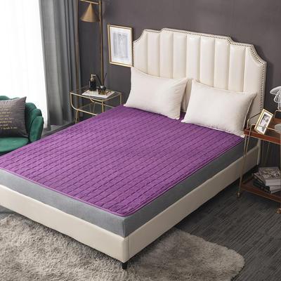 2020新款-磨毛四季床垫(2) 150*200 紫色