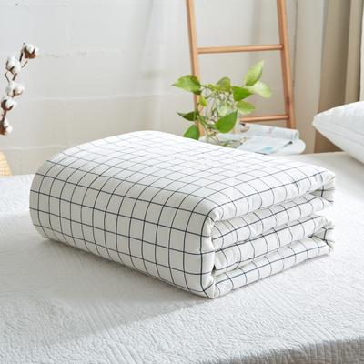 2019新款-可水洗里外全棉棉花被空调被纯棉夏被 单/枕套 对白