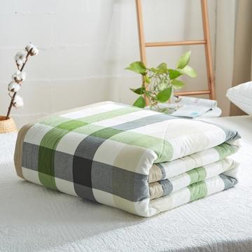 2019新款-可水洗里外全棉棉花被空调被纯棉夏被