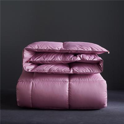 2019新款-轻奢风羽丝绒纯色冬被被子被芯 150*200cm/4斤 丁香紫