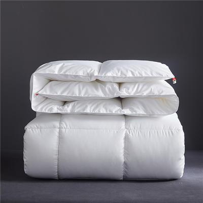 2019新款-轻奢风羽丝绒纯色冬被被子被芯 150*200cm/4斤 奢华白