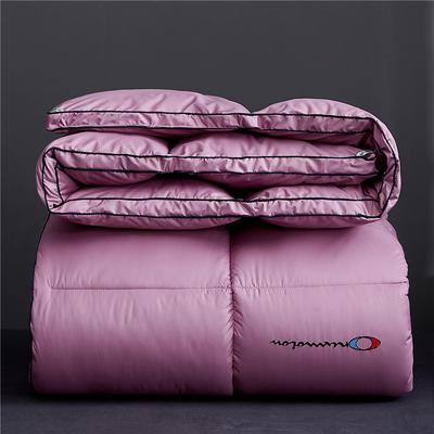 2019新款-刺绣立体冬被被子被芯 150x200cm4斤 丁香紫立体刺绣