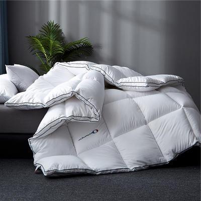 2019新款-刺绣立体冬被被子被芯 150x200cm4斤 奢华白立体刺绣