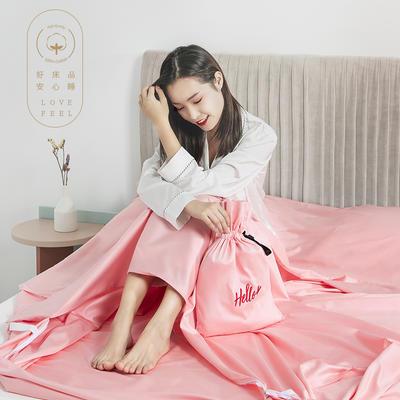 2019新款60支长绒棉隔脏睡袋 粉色(80*210cm)