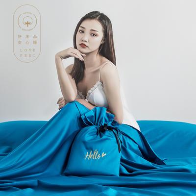 2019新款60支长绒棉隔脏睡袋 蓝色(120*210cm)