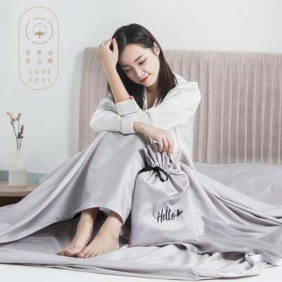 2019新款60支长绒棉隔脏睡袋 灰色(200*210cm)