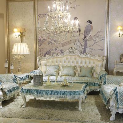 美优兰3D立体绣雪尼尔沙发垫(一帘幽梦系列 欧式沙发拍摄) 抱枕套45*45(不含芯) 一帘幽梦-绿