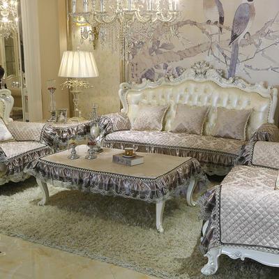 美优兰3D立体绣雪尼尔沙发垫(穆纱系列 欧式沙发拍摄) 抱枕套45*45(不含芯) 穆纱-咖