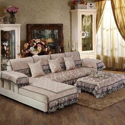 美优兰3D立体绣雪尼尔沙发垫(穆纱系列 组合沙发拍摄) 抱枕套45*45(不含芯) 穆纱-咖