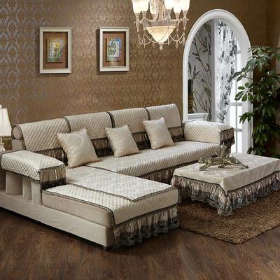 美优兰3D立体绣雪尼尔沙发垫(穆纱系列 组合沙发拍摄) 抱枕套45*45(不含芯) 穆纱-米白