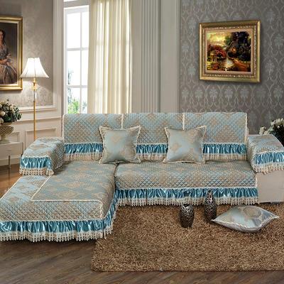 美优兰3D立体绣雪尼尔沙发垫(一帘幽梦系列 组合沙发拍摄) 抱枕套45*45(不含芯) 一帘幽梦-绿