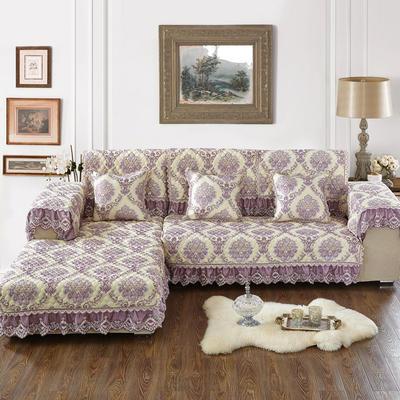 美优兰2018高精密提花沙发垫 抱枕套45*45cm(不含芯) 欧若拉-紫色
