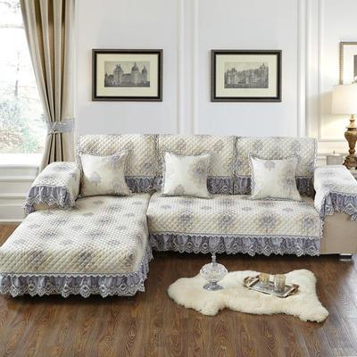 美优兰2018色织亚麻提花沙发垫 抱枕套45*45(不含芯) 西雅图-高贵灰