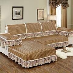 美优兰夏季冰藤沙发垫 80+17cm垂边*90 冰藤咖