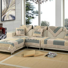 美优兰水洗全棉沙发垫 90*150 韩式蝴蝶-灰