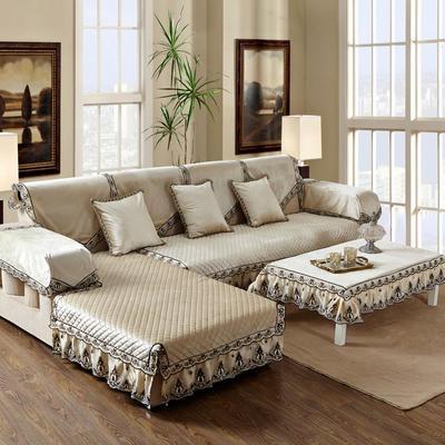 美优兰冬季新款意大利绒沙发垫 靠背扶手巾67*78单层布 伊莉莎-米色