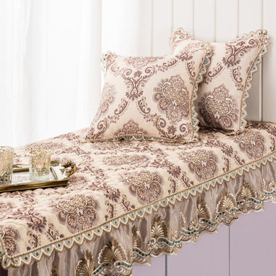 美优兰飘窗垫(欧若拉系列) 45*45抱枕套(不含芯) 欧若拉-米黄
