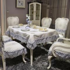 欧式餐椅垫桌布(西雅图系列) 桌布180*180cm(含17cm垂边) 西雅图-高贵灰
