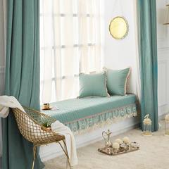 简约现代飘窗垫窗台垫定做卧室阳台垫坐垫榻榻米垫子可机洗可定制 90*160 水梦幽兰-卡其