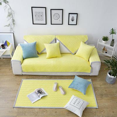秋冬加厚天鹅绒沙发垫--暖阳系列 70*70cm 鹅黄