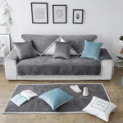 秋冬加厚天鹅绒沙发垫--暖阳系列 70*70cm 灰色