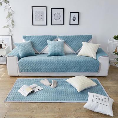 秋冬加厚天鹅绒沙发垫--暖阳系列 70*70cm 蓝绿