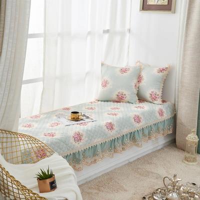 美优兰飘窗垫(花季系列) 45*45抱枕套(不含芯) 花季-绿