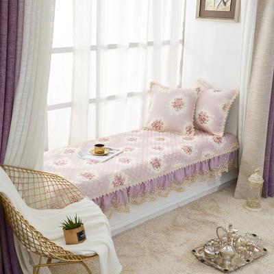 美优兰飘窗垫(花季系列) 45*45抱枕套(不含芯) 花季-紫