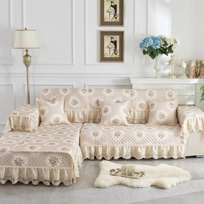 2018新款竹节麻沙发垫(花季系列) 抱枕套45*45(不含芯) 花季-驼
