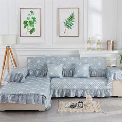 2018新款竹节麻沙发垫(素锦系列) 抱枕套45*45(不含芯) 素锦-灰