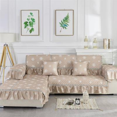 2018新款竹节麻沙发垫(素锦系列) 抱枕套45*45(不含芯) 素锦-驼