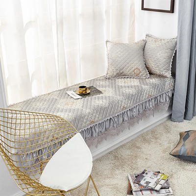 2019新款高精密3D刺绣飘窗垫(维纳斯系列) 45*45抱枕套(不含芯) 维纳斯-灰色