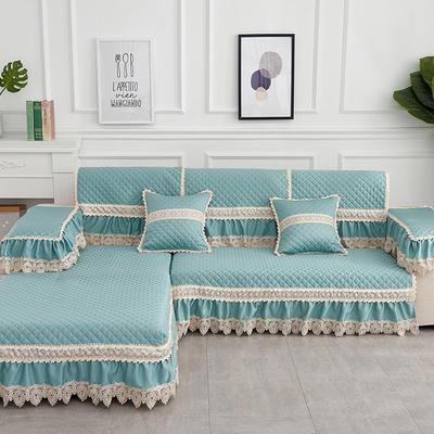 2019新款色织提花沙发垫(简陌系列) 抱枕套45*45(不含芯) 简陌-绿