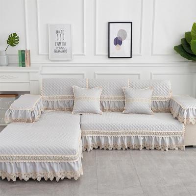 2019新款色织提花沙发垫(简陌系列) 抱枕套45*45(不含芯) 简陌-浅灰