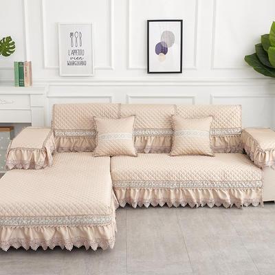 2019新款色织提花沙发垫(简陌系列) 抱枕套45*45(不含芯) 简陌-香槟色