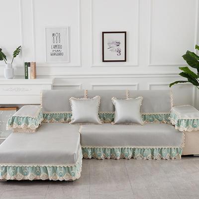 2019新款夏冰藤系列沙发垫 65+17cm垂边*70 冰藤灰绿