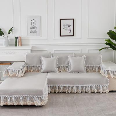 2019新款夏冰藤系列沙发垫 65+17cm垂边*70 冰藤浅灰
