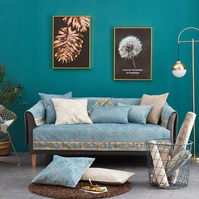 2019新款时尚格调沙发垫系列 抱枕套45*45(不含芯) 时尚格调-绿