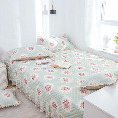 美优兰 榻榻米床单炕套罩北欧床垫软垫防滑床盖单件夹棉大炕垫 定制175cm+17边x200cm 花季绿