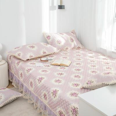 美优兰 榻榻米床单炕套罩北欧床垫软垫防滑床盖单件夹棉大炕垫 定制175cm+17边x200cm 花季紫