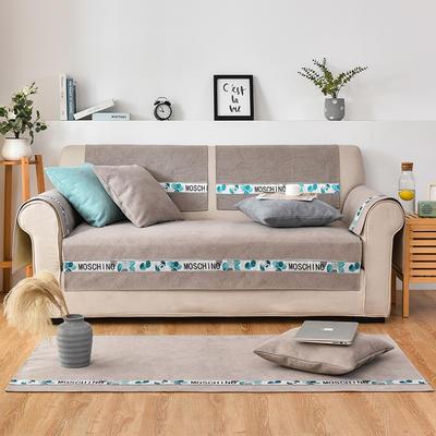 2020新款复合菱格沙发垫 70*70cm(单人位,靠背巾) 菱格卡其