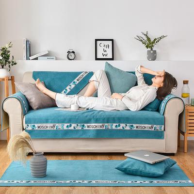 2020新款复合菱格沙发垫 70*70cm(单人位,靠背巾) 菱格蓝