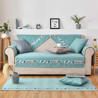 2020新款复合菱格沙发垫 70*70cm(单人位,靠背巾) 菱格绿