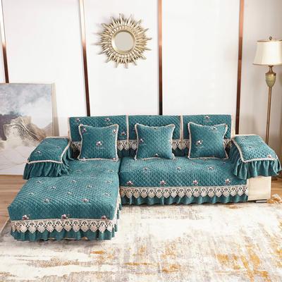 2020新款风铃花系列沙发垫 扶手38*70cm(三边17cm垂边) 风铃花绿