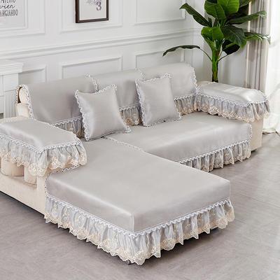 2019新款夏冰藤系列沙发垫 65+17cm垂边*70 冰藤灰