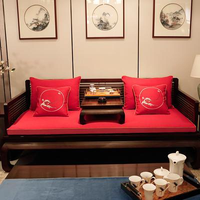 2020新款中式海绵沙发垫 38*45*3 坐垫 平织红