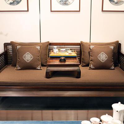 2020新款中式海绵沙发垫 38*45*3 坐垫 平织咖