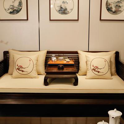 2020新款中式海绵沙发垫 38*45*3 坐垫 平织米白