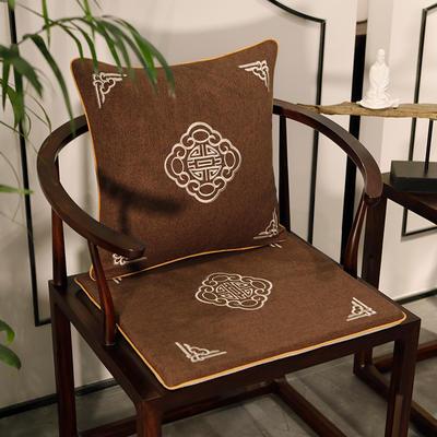 2020新款新中式椅垫 38*45*3 坐垫 悦轩阁咖